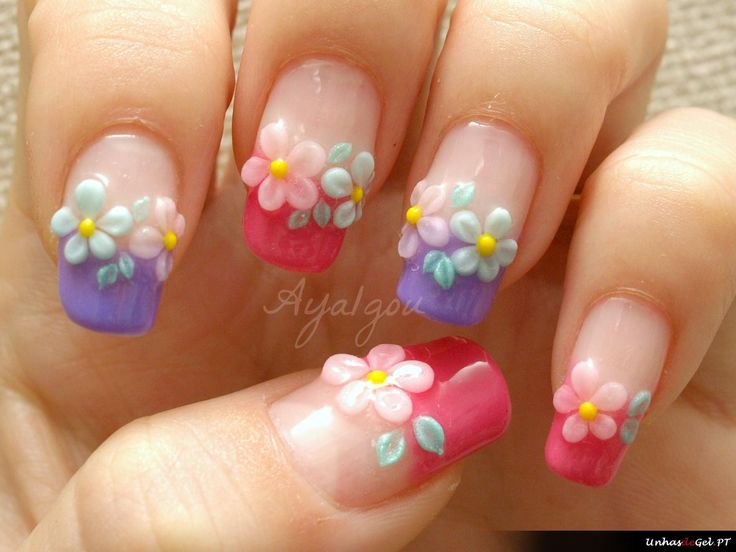 ARTNAILS OF THE DAY - Unhas de gel decoradas do dia - http://www.unhasdegel.pt