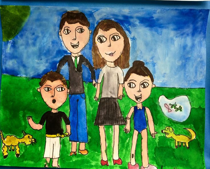 Family Portraits (step by step lesson). Op de site kun je stap voor stap lezen (en foto's) hoe je een mooi familie portret kunt tekenen.