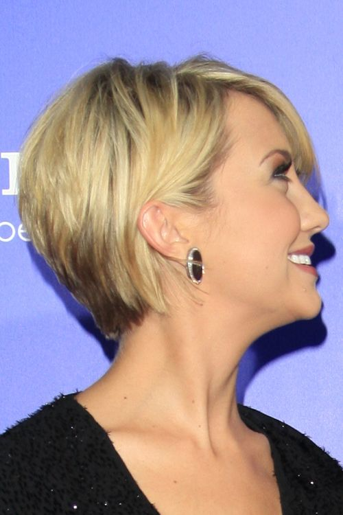 chealsea kane bob | Chelsea Kane Straight Golden Blonde Layered Bob Hairstyle | Steal Her ...