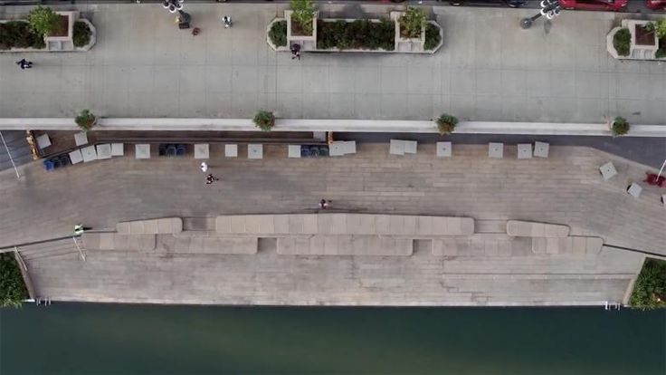 Above the Riverwalk - A short film with a mix of drone footage, time-lapse photography, and on-the-ground views takes viewers along the nearly one-mile-long Chicago Riverwalk, whose third and last phase opened last year.