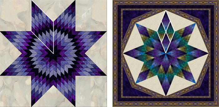 lone star quilt pattern | Tips & Lessons > Fragmenting: A Quilt Design from a Single Block
