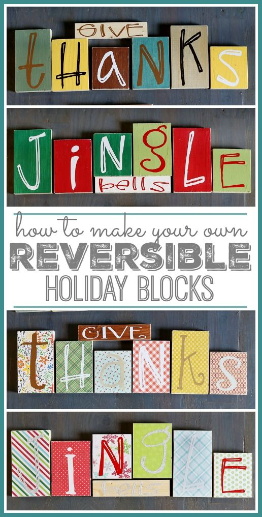 How-to make reversible holiday blocks from MichaelsMakers Sugarbee Crafts