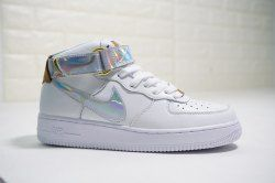 Nike Air Force 1 Mid Just do it White Black BQ561 100