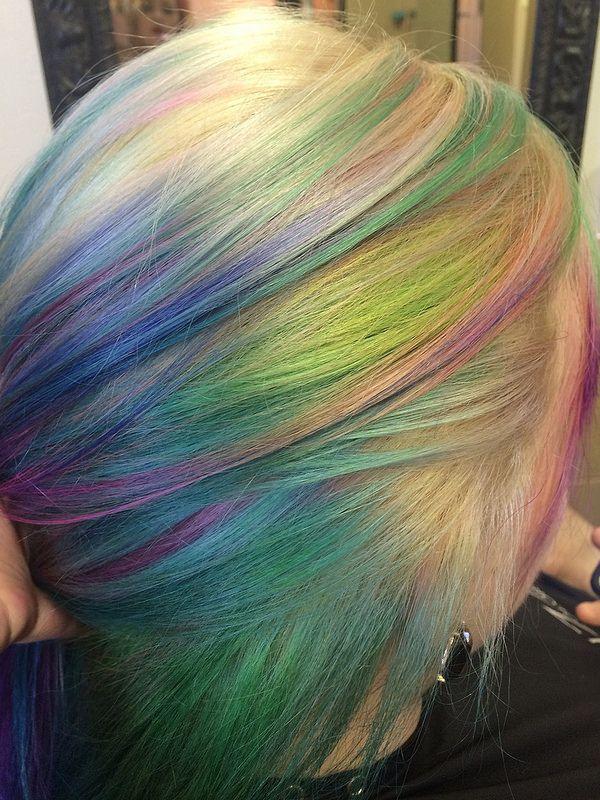 pastel opal hair. www.outrageousrainbows.com Stuff that ...