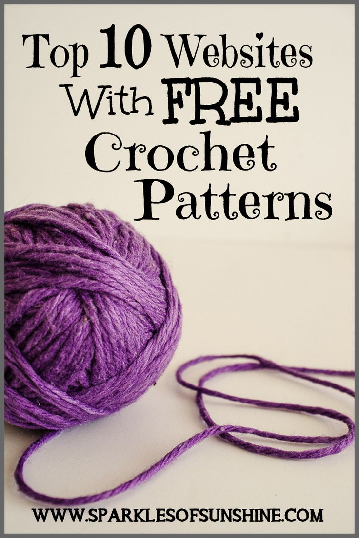 Top 10 Free Crochet Pattern Websites : Top 10 Websites With Free Crochet Patterns Virkning ...