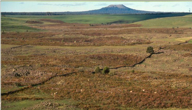 Gone: The Harman's Valley lava flow near Byaduk which has been destroyed by rock crushing. The lava flow was part of a volcanic discovery trail and had a popular viewpoint on the Hamilton-Port Fairy Road.