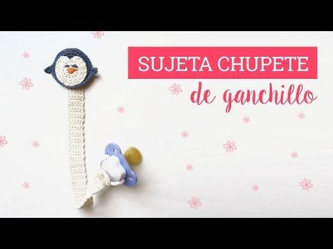 Como hacer un sujeta chupete de ganchillo   Crochet pacifier clip - YouTube