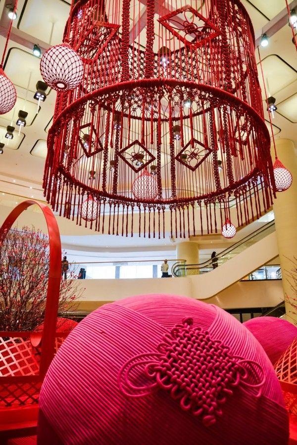 Australian fiber artist Natalie Miller made the worlds largest Macrame chandelier