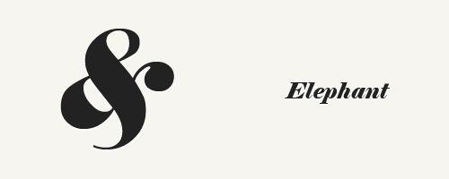 Font: Elephant – Italic
