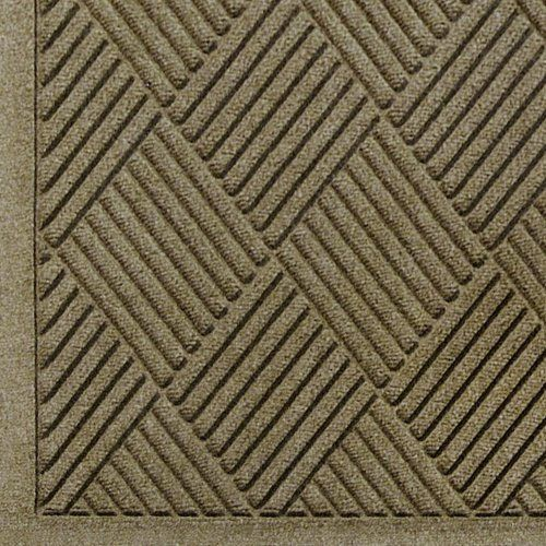 """Andersen 221 Camel Polypropylene WaterHog Fashion Diamond Entrance Mat, 5' Length x 3' Width, For Indoor/Outdoor by Andersen. $60.74. No other mat in the industry traps water and dirt so effectively. WaterHog mats are constructed of rubber reinforced face nubs and the """"diamond"""" design provides crush proof scraping action. The border for WaterHog Fashion features the same 100 percent polypropylene fiber system as the mat surface. Premium 24 oz/sq anti-static Poly..."""