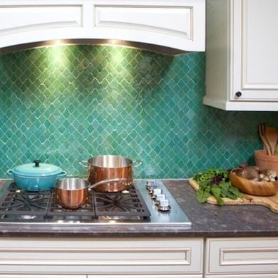 Don't skimp on the backplash! This moroccan tile uplifts the entire room.