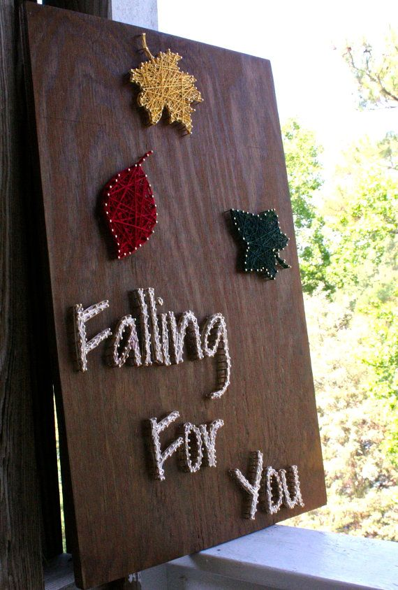 Falling For You Fall String Art by