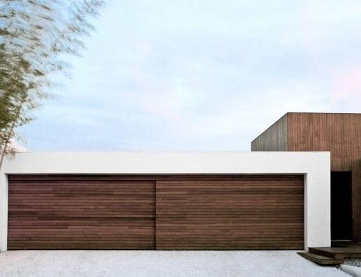 Modern White Garage Door