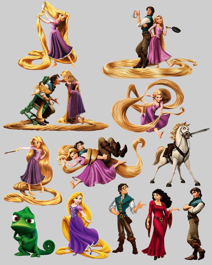 Rapunzel. Dibujos animados de Disney. por DigitalReflection en Etsy