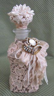 Embellished bottle with bling.