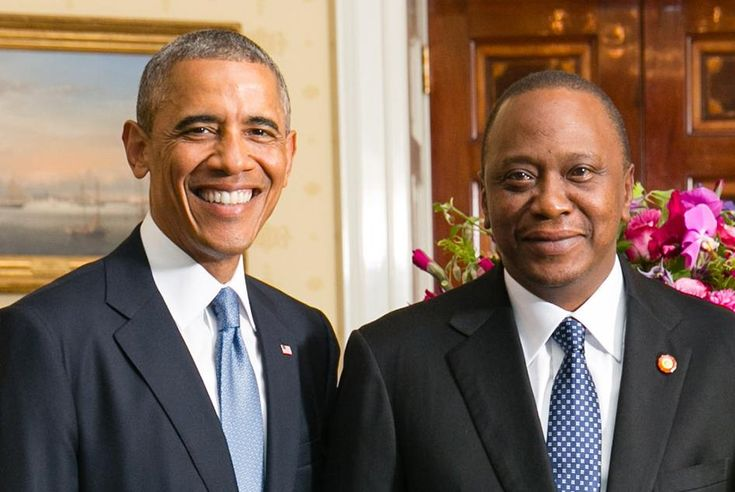 President Obama Kenya 2015 | President Barack Obama of the United States and Kenyan President Uhuru ...