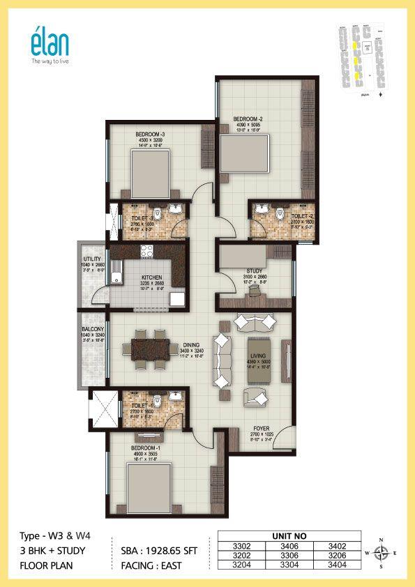 1 Bhk 2 Bhk And 3 Bhk Apartments In Coimbatore Sobha Elan Floor Plans Apartment Floor Plans Residential Building Plan