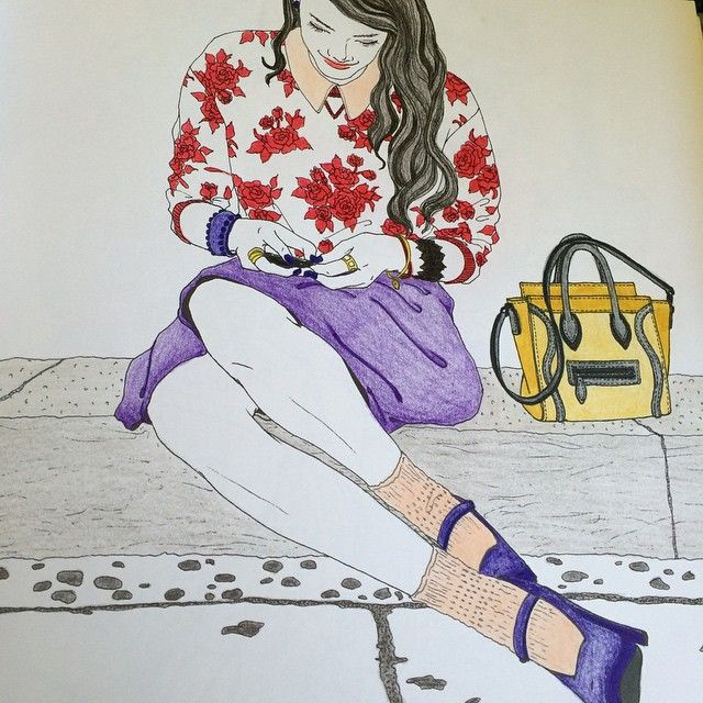 #mulpix #drawing #안티스트레스 #beauty #coloring #chanel #컬러링북 #look #컬러링북look #색칠공부 #주말 #취미 #enjoy #interest #paint #picture #painting #art #sketch #draw #follow #fashion #fabercastell #파버카스텔 #girl #hobby #color #색칠