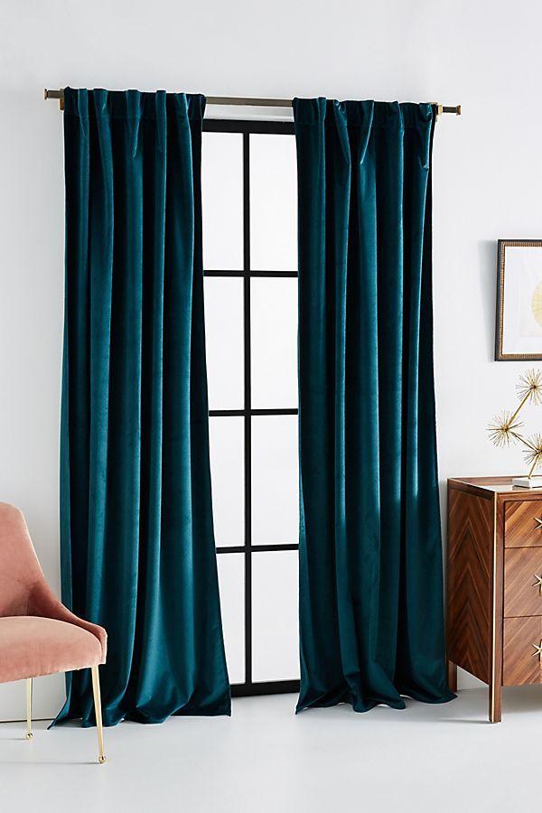Velvet Louise Curtain Curtains Living Room Teal Curtains Curtains Living #teal #drapes #for #living #room