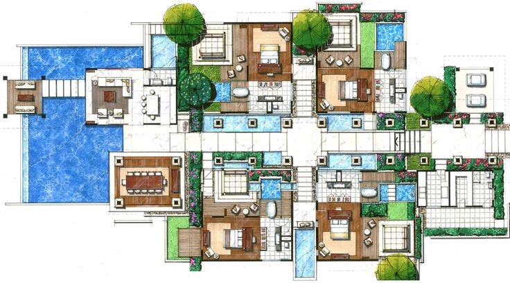 villas floor plans | ... Floor Plans Villas Resorts | Joy Studio Design Gallery - Best Design