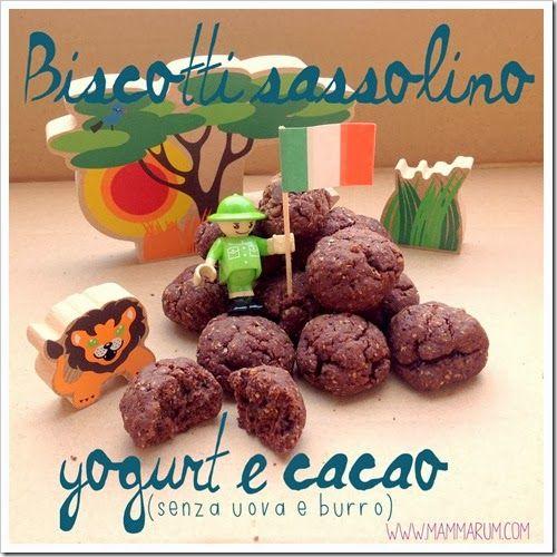 Biscotti yogurt e cacao senza burro e uova #ricette per #bambini