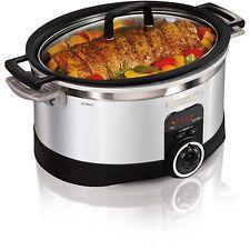 Digital Slow Cooker Crockpots And Programmable Crock Pot 6 Qt Quart Timer Safe