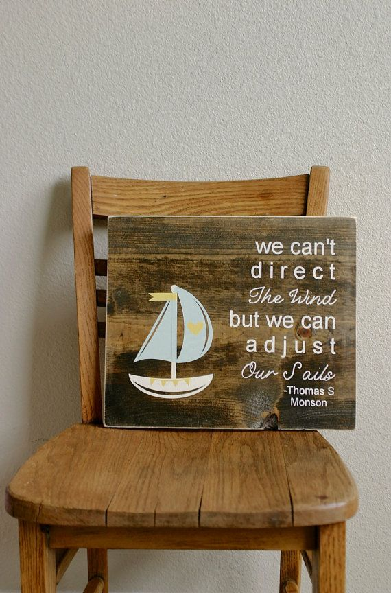 handpainted wood sign sailboat encouraging by cupcakeetsy