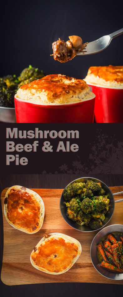 Mushroom, Beef and Ale Pie Recipe: Beef and ale pie is winter stalwart ...