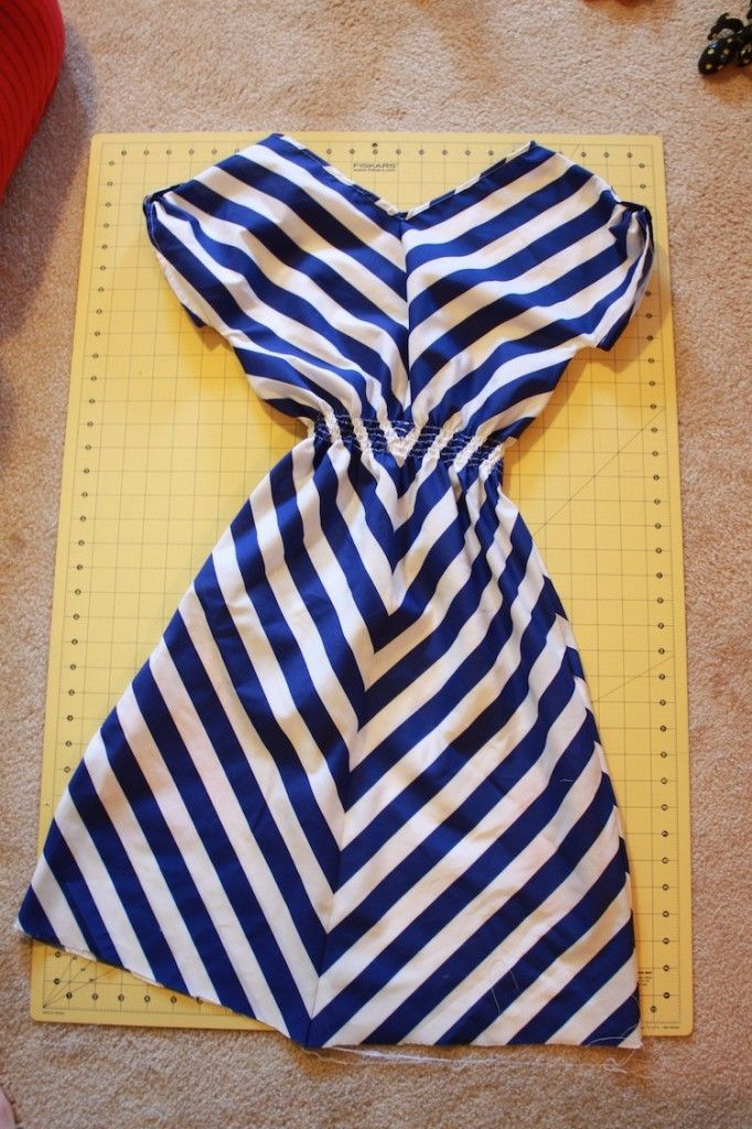 (Chevron) dress tutorial with shirred waist