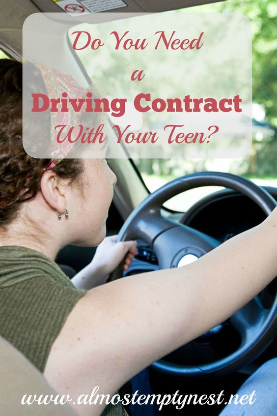 Do Parents Need A Driving Contract With Their Teen Driving