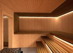 Ledstrips in sauna / Sauna LED verlichting