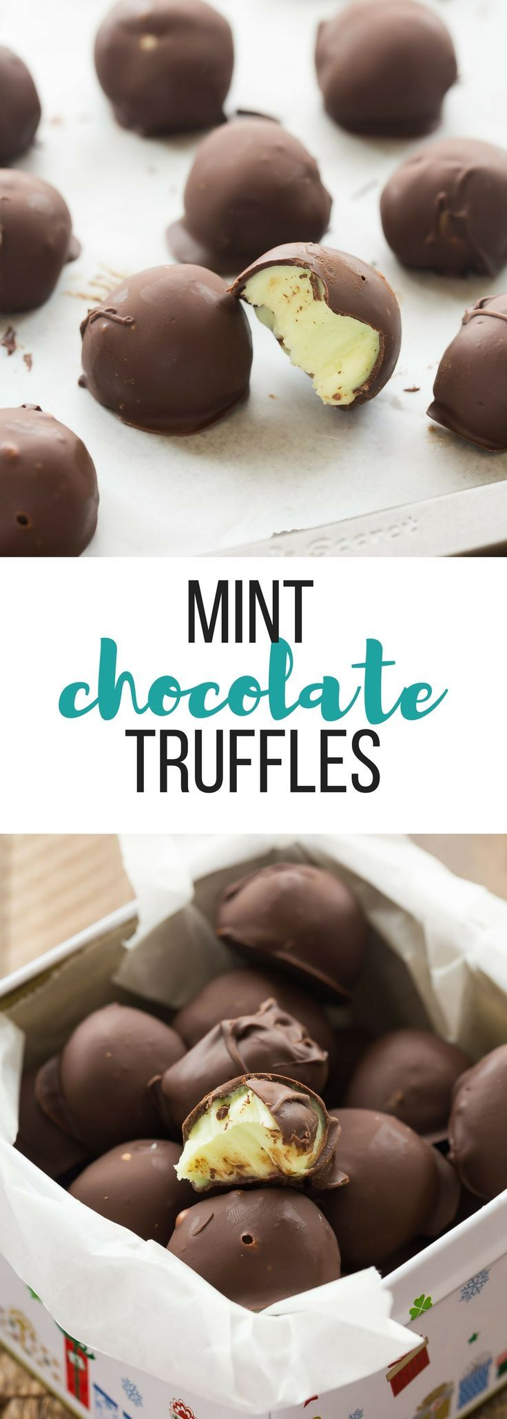 Easy favorite recipes 17322 pinterest these easy mint chocolate truffles are an easy no bake christmas dessert perfect for gift giving negle Gallery
