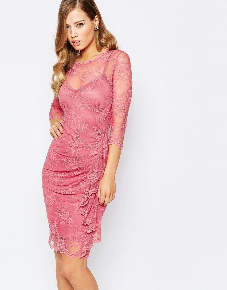Image 1 of Body Frock Joanna Lace Frill Dress in Pink