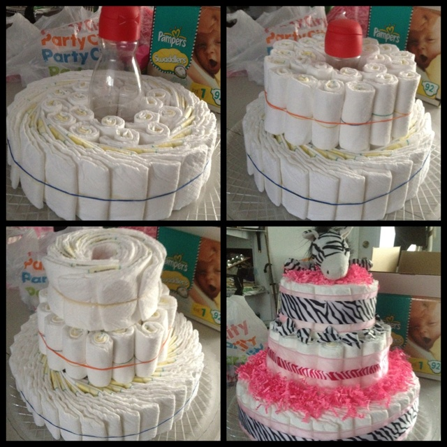 My first diaper cake :)