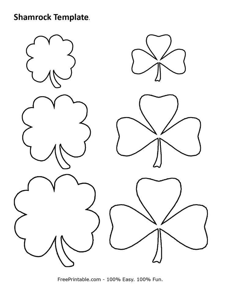 The 25+ best Shamrock template ideas on Pinterest March crafts - rainbow template