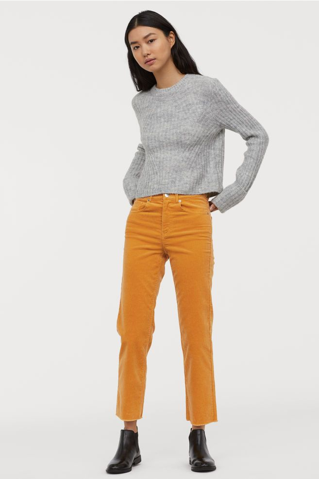 mustard yellow womens skinny jeans h and m