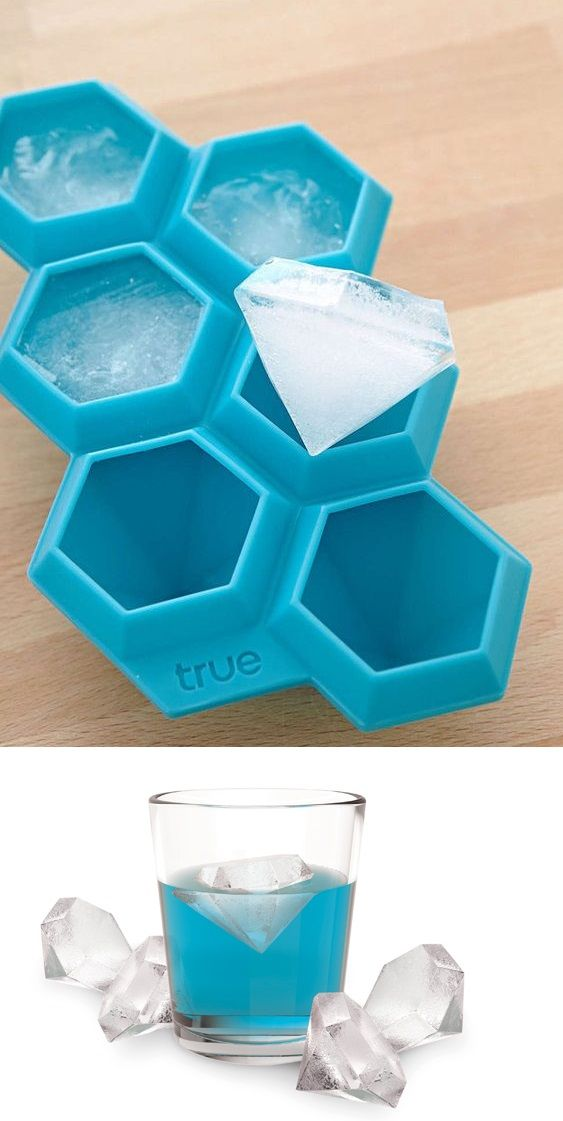 This diamond ice cube tray is outstandingly cute!