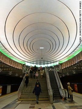 11. Plac Wilsona, Warsaw, Poland    The Soviets built some extraordinary metro stations but this 2005 effort, named after U.S. president Woodrow Wilson, showed that a capitalist Poland could come up with some beauties, too.    www.cnn.com