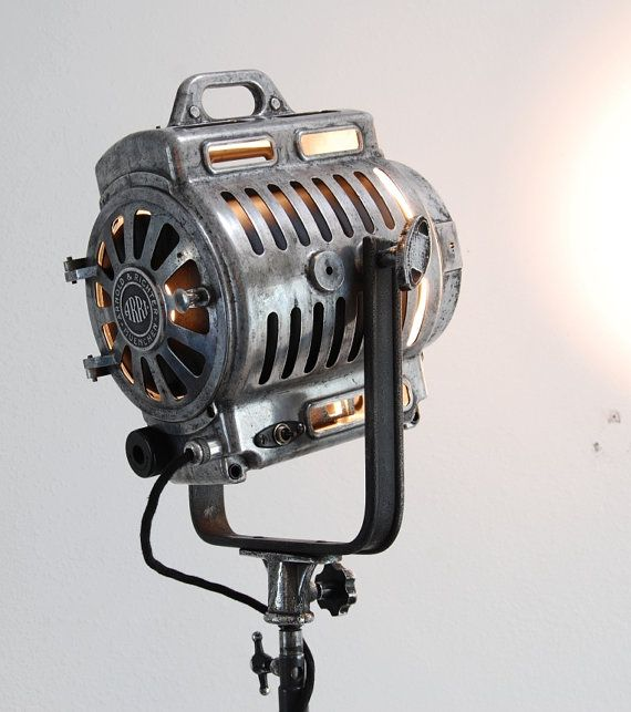 Iconic 40 s Vintage Theater Stage Light Spotlight   Art Deco Industrial Lamp    Mole Richardson Arri. 43 best tri pod images on Pinterest   Industrial lighting