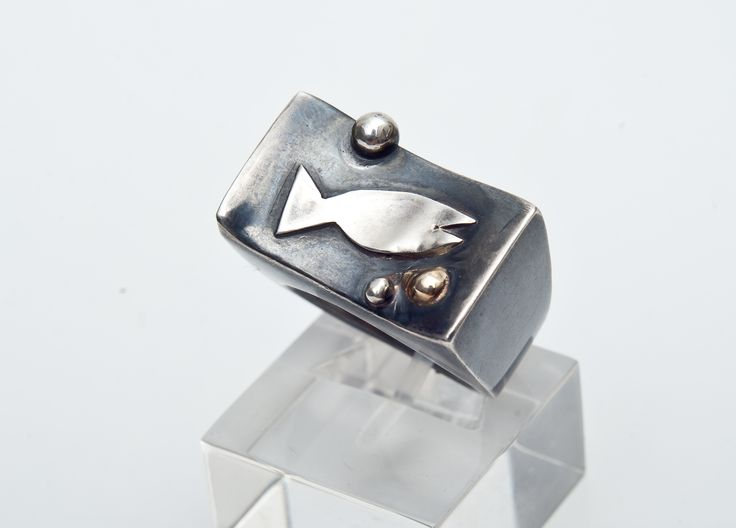 Fish ring in silver (925)