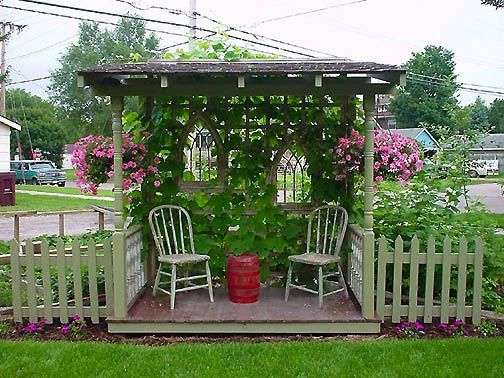 Garden Ideas On Pinterest more garden containers you never thought of Diy Garden Ideas Diy Garden Ideas I Should Do This Little Enclave In My