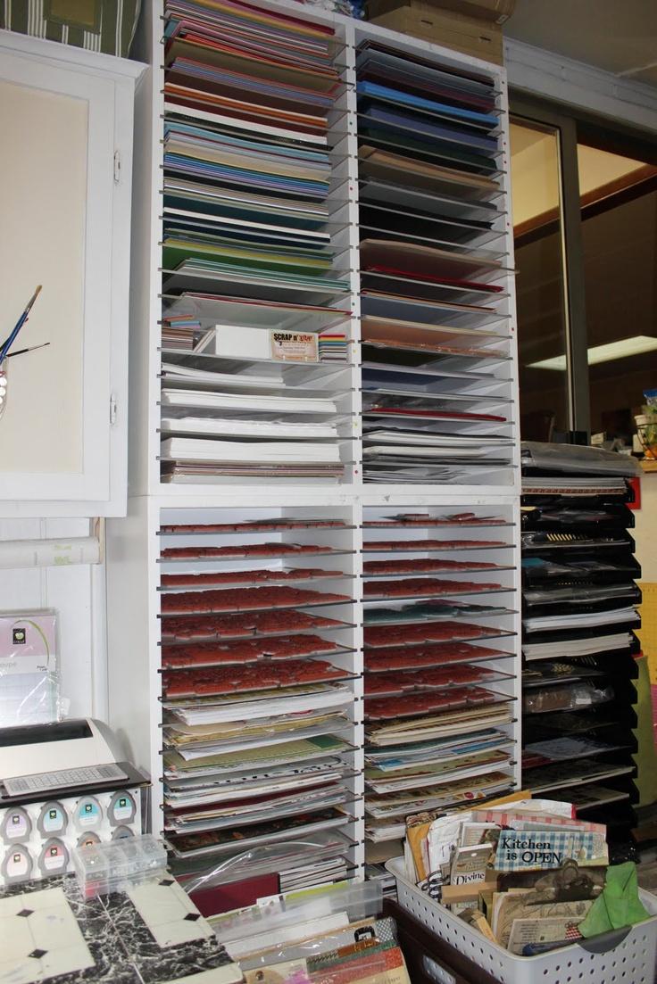 Scrapbook paper organization ideas - Paper Storage