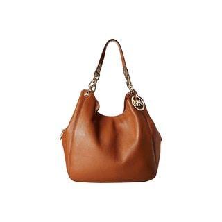 Michael Kors Fulton Large Luggage Brown Shoulder Tote Bag - 17858951 - Overstock.com Shopping - Great Deals on Michael Kors Shoulder Bags