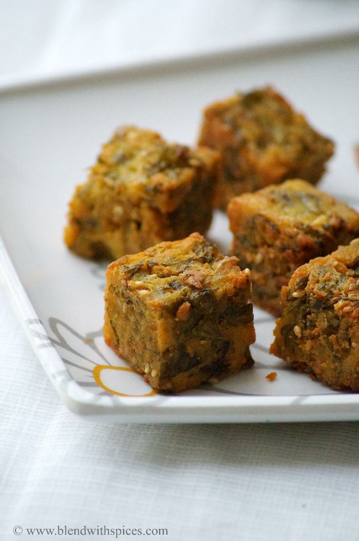 Maharashtrian Kothimbir Vadi (Crispy Coriander Fritters) GF