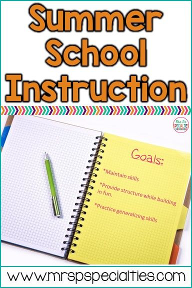 How to set up an extended school year (ESY) or summer school program for special education students. Ideas for adding fun and engaging tasks to ensure students maintain their skill levels.