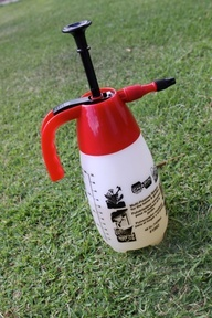 Natural Weed Killer. Spray directly on weeds taking special care to saturate the core