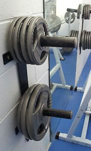 Wall-Mounted-Olympic-Weight-Rack-Strong-Plate-storage