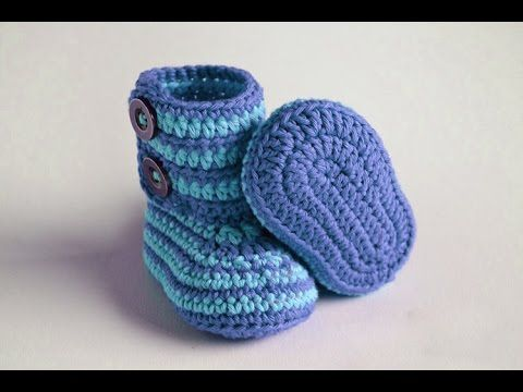 how to crochet baby booties step by ste