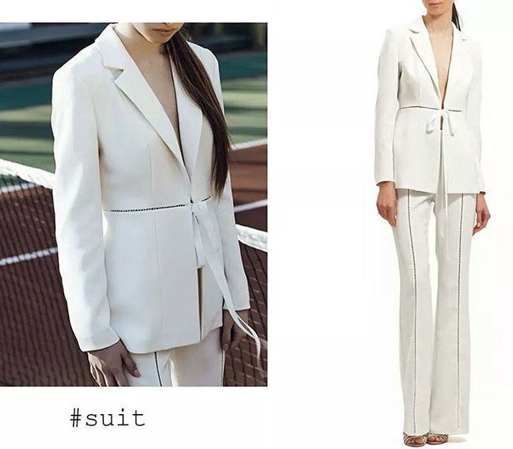 The SUIT / Tip of the day: Sharpen your party look with a classy white suit.  Available now at Maison Raquette.#whitesuit #pantsuit #bow #ribbon #maisonraquette #moleculef #ootd