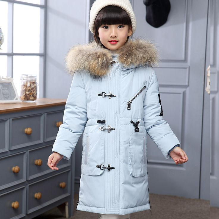 2017 New Baby Girls Boys Winter Coats Jacket Children Down Outerwear Warm Thick Outdoor Kids Fur Collar Snow Proof Coat Parkas